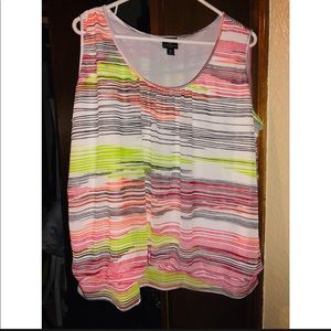 Plus size colorful tank top